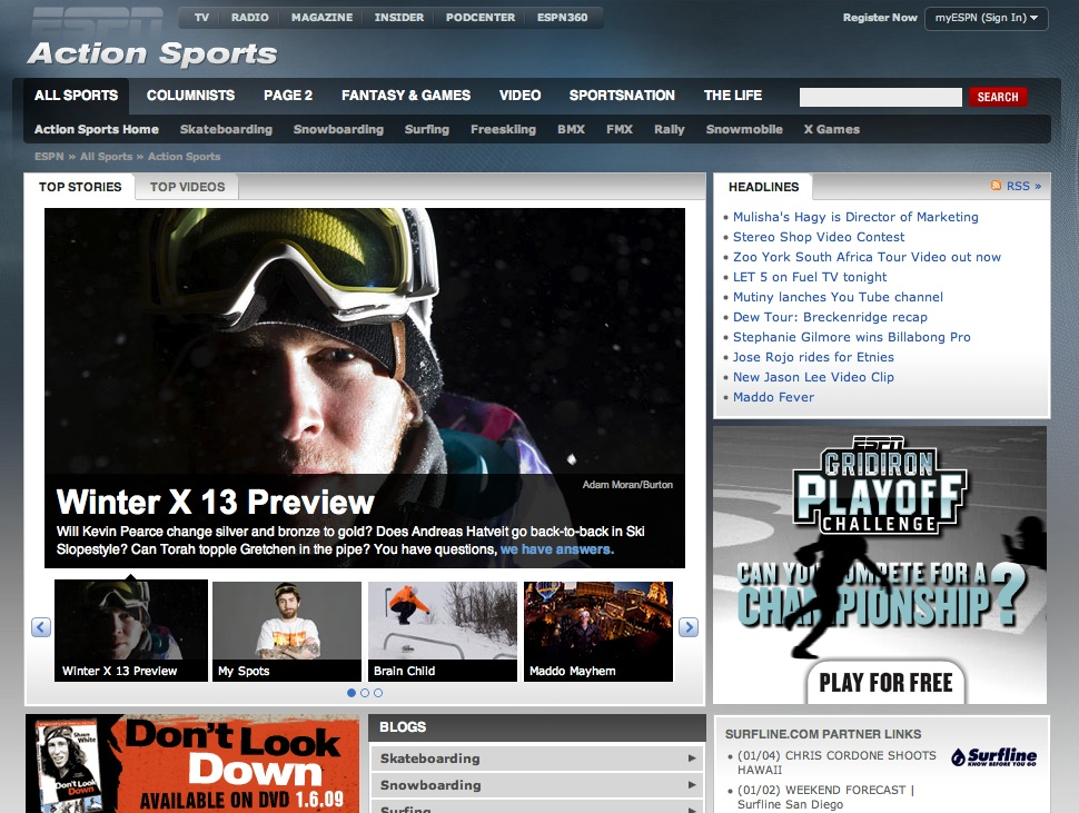 Goodbye EXPN, Hello ESPN Action Sports