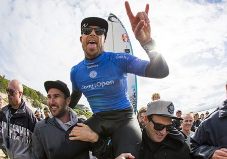 Mick Fanning winning the jBay Open.