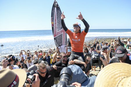 Jordy Smith is the Hurley Pro Trestles WINNER by defeating Joel Parkinson in the final.